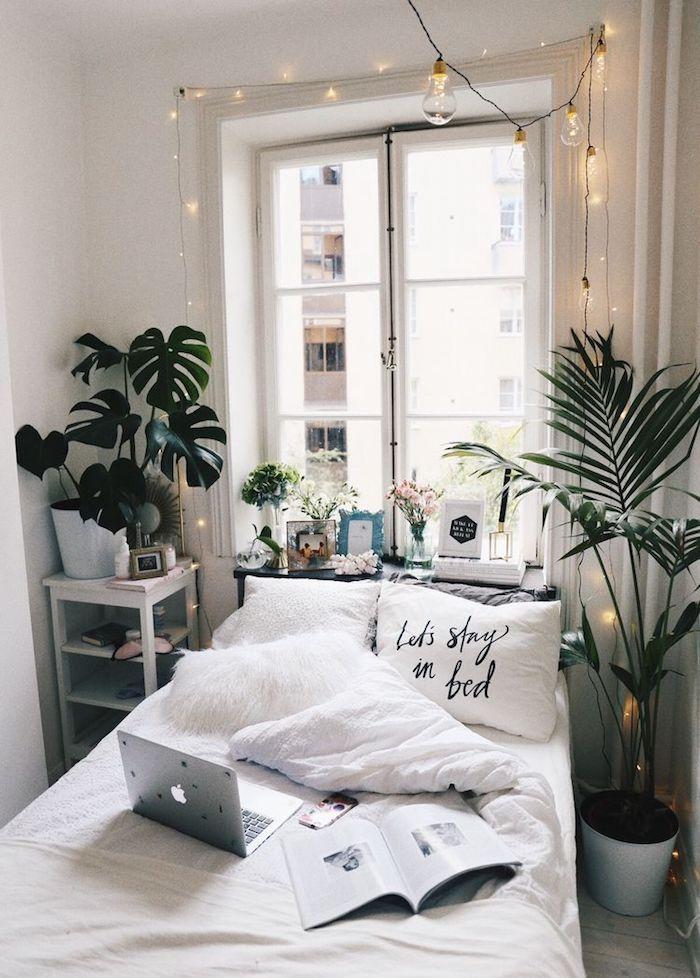 Deco Chambre Bohème Chic, Blanche Deco Chambre Adulte, Plantes Vertes, Cool  Idée Design