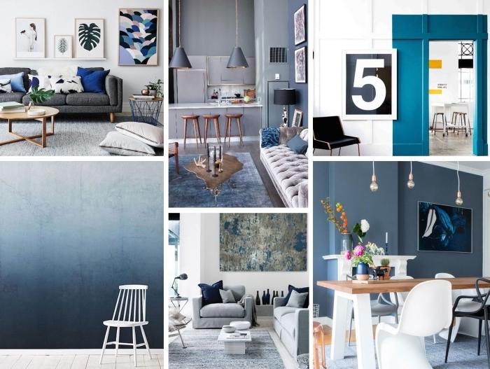 comment réussir la déco salon bleu pour créer un espace de vivre propice à la détente qui respire la nature et la sérénité