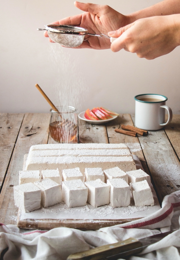 recette guimauve épicée, au vinaigre de cidre ultra moelleuse et fondante pour les amateurs de la confiserie maison