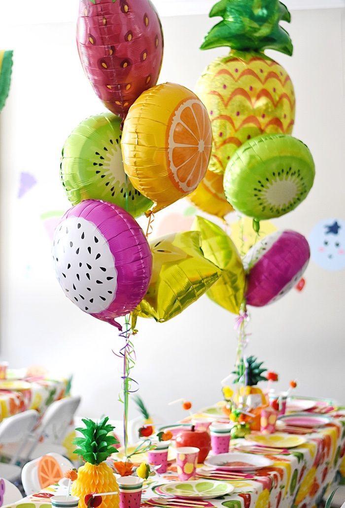 Deco anniversaire fille diy anniversaire decoration anniversaire 18 ans photo fruits ballons