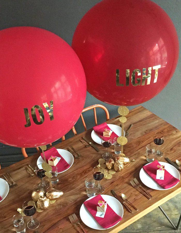 Fille anniversaire mignonne deco anniversaire fille déco anniversaire à faire soi même diy facile rouge et dorée