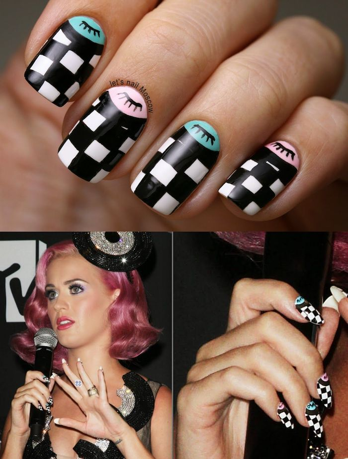 Motif ongle inspiration, quelle couleur choisir, ongle gel couleur, beauté ongles, Katy Perry ongles