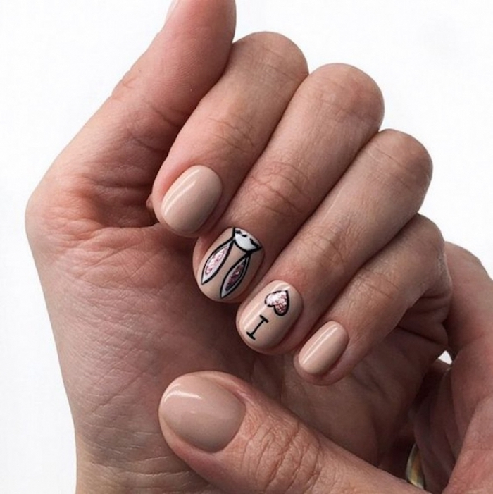 Manucure moderne lapin, modele d ongle en gel, ongle gel, couleur ongle original, tendance vernis 2018