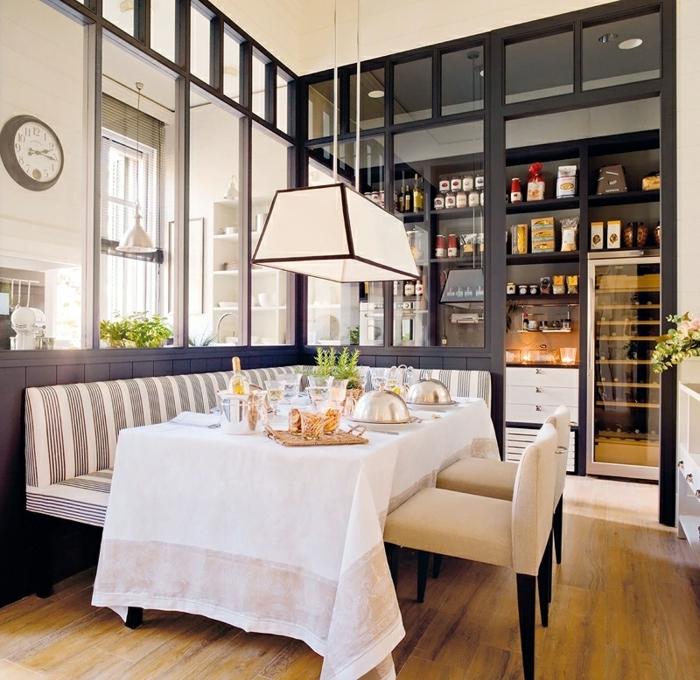 verriere interieure, étagères avec espace rangement, délimitation cuisine et salle à manger