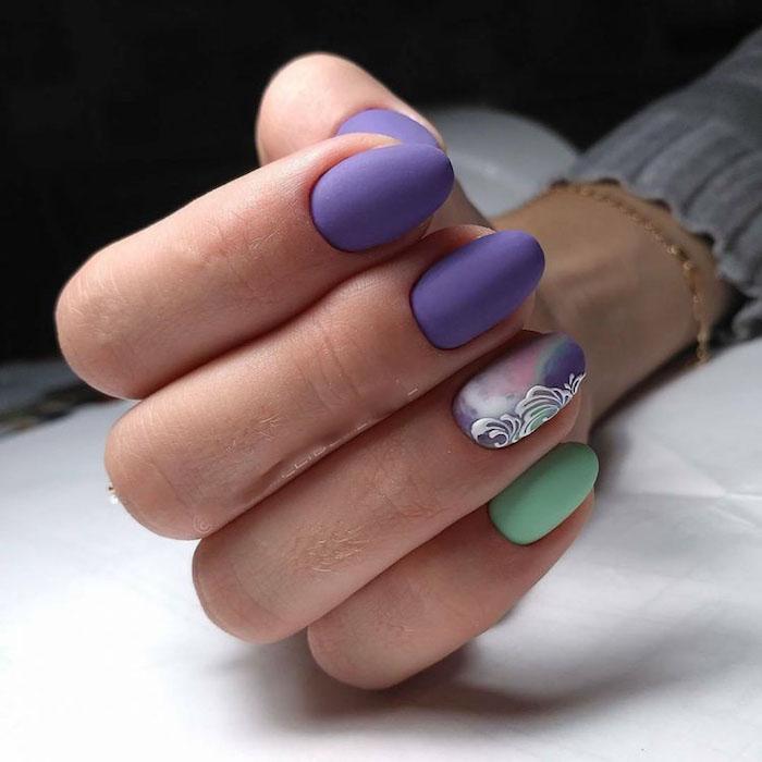 Modele ongle gel, idée couleur et modele d ongle en gel, photo ongle gel professionnel, design ongle mat