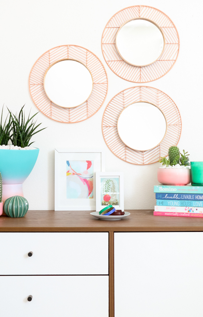 Amenagement salon déco salon cocooning comment décorer son séjour miroirs rondes diy idée décoration