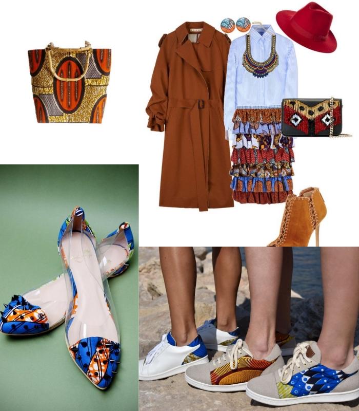 des accessoires tendances à inspiration ethnique africaine, comment adopter l'imprimé wax par petites touches