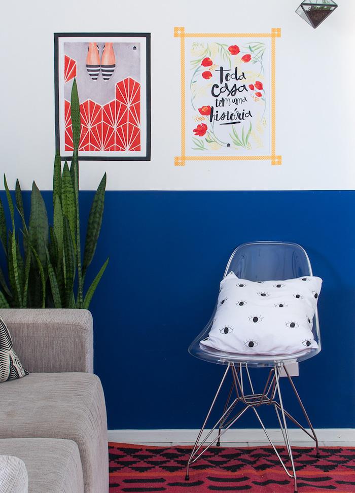 Amenager petit salon déco salon cocooning séjour déco scandinave mur bicouleur salon scandinave