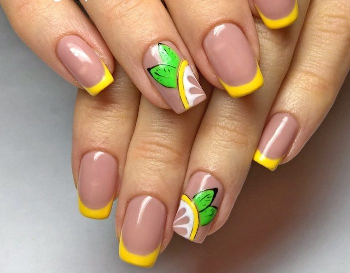 Photo ongle originale, ongle gel couleur, modele ongle gel, dessin sur ongle
