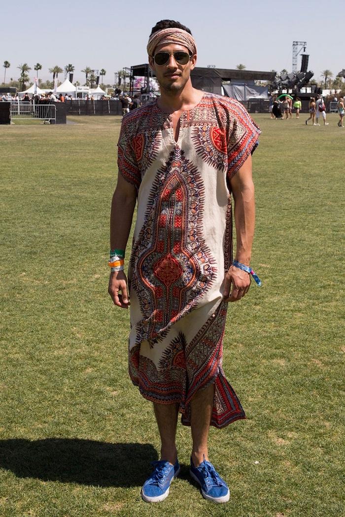 tunique pagne pour homme style tenue boheme ethnique chic décontracté pour l'été