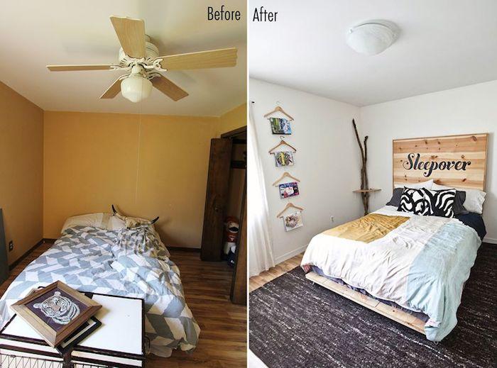 Transformer l'espace de la chambre à coucher, photo avant après renovation, aménager une chambre de 9m2