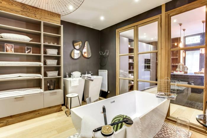 1001 id es pour une salle de bain avec verri re Porte verriere blanche
