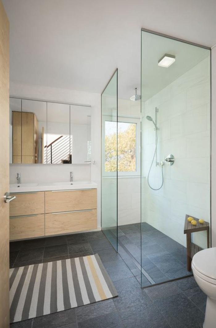 1001 id es pour une salle de bain avec verri re cloisons douches - Cloison de douche ...