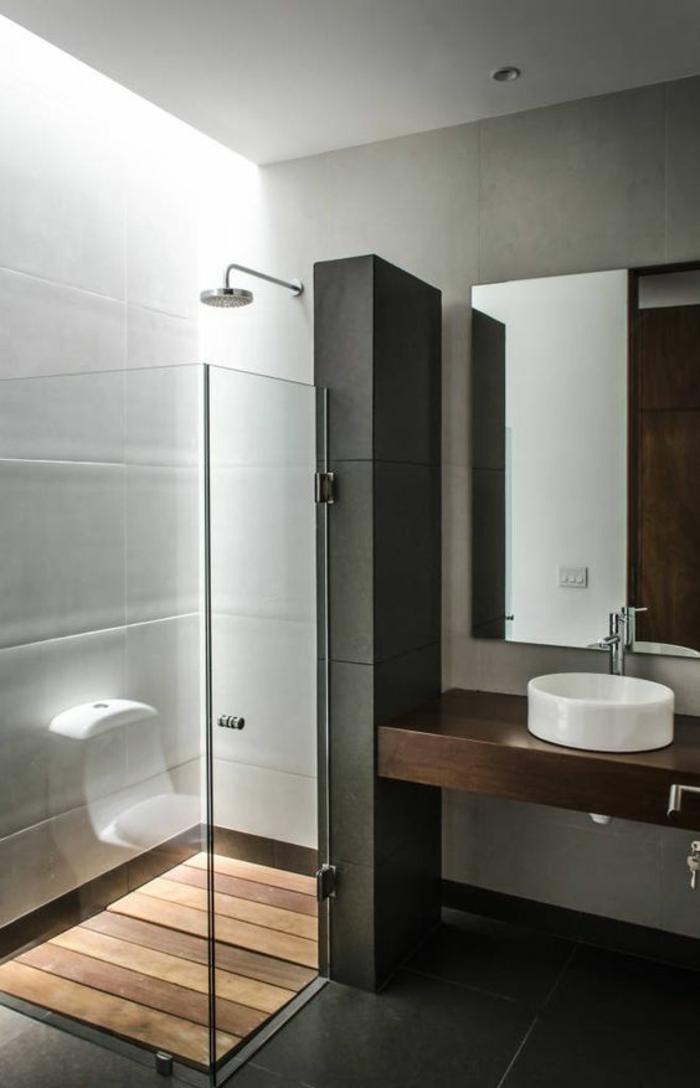 1001 id es pour une salle de bain avec verri re for Banos modernos diseno interior