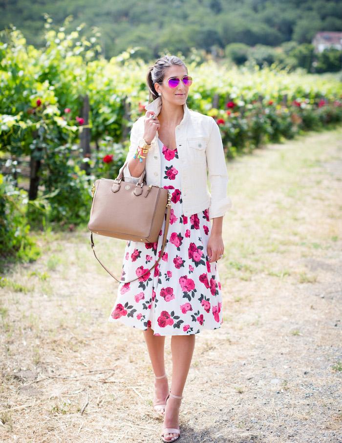 Style champêtre femme robe champêtre mariage blanche fleurie robe courte robe d été stylée belles robes