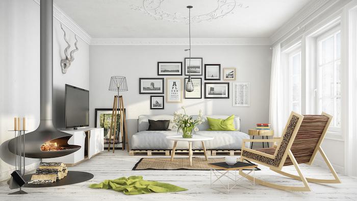 Amenager petit salon déco séjour canapé cosy déco séjour cool idée décoration murale avec beaucoup de photos