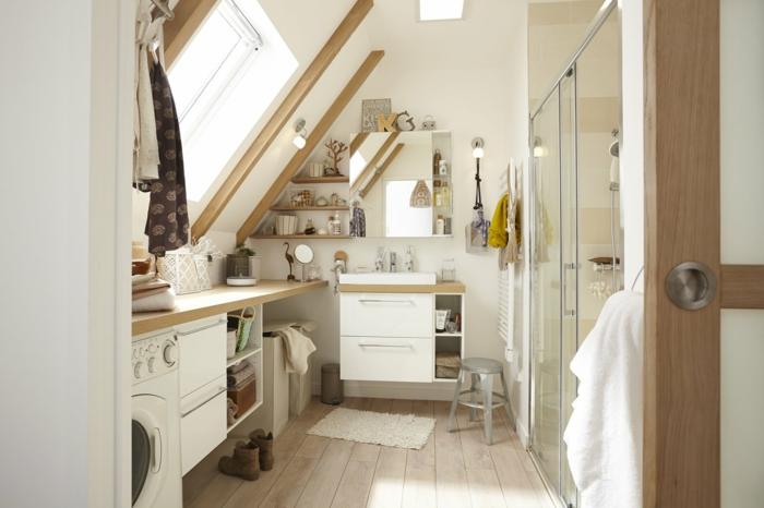 verriere douche, porte verriere, separation verriere, lave-linge avec hublot rond, pièce de lavage et salle de bain avec verrière