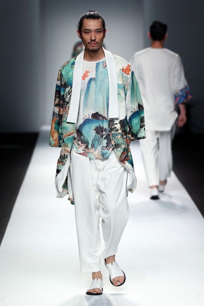 tenue homme pour mariage boheme chic hippie style look japonais tradi