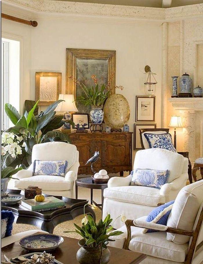 Decoration salon contemporain déco séjour chouette déco de séjour vintage stylée