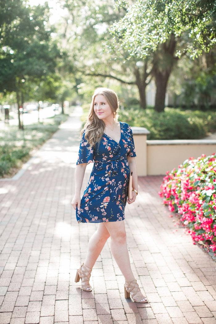 Robe femme invitée mariage informel champetre style bleu robe fleurie courte tenue pour femme promenade tenue vacances