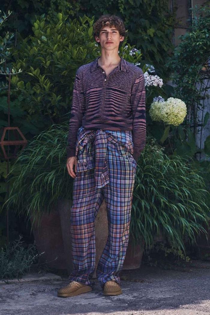 look hippie boheme chic décontracté style tenue pyjama coloré retro kitsch