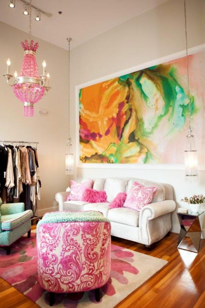 peinture rose poudré, couleur rose pale, fauteuil coque en vieux rose, chambre rose poudré et taupe, chambre blanche et grise, plafond peint beige