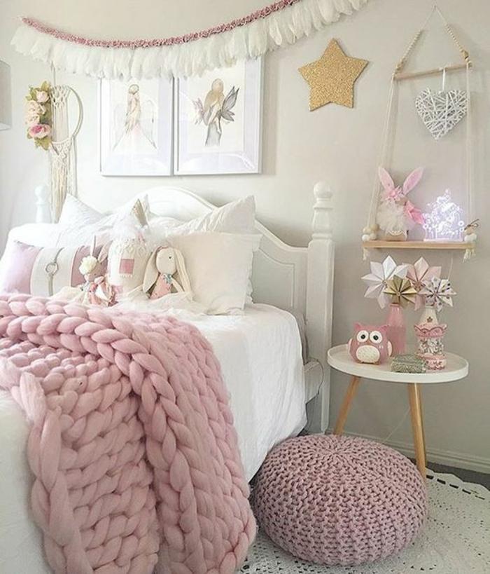 Chambre Rose Pale Et Blanc. Meubler Et Decorer Une Chambre Blanche ...