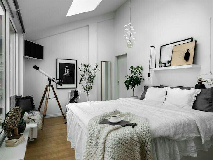 Chambre étudiante déco en fonction de l espace, chambre tumblr inspirée, adorable idée comment décorer la chambre à coucher adulte