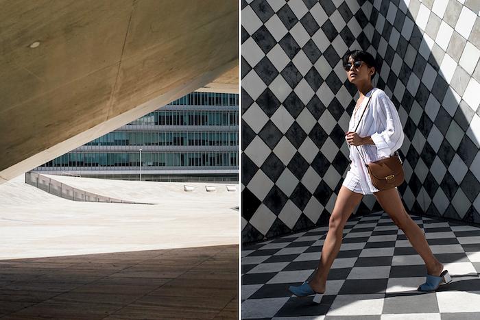 Combinaison pantalon femme chic, idée comment s'habiller combinaison femme soirée, photo art en portugal