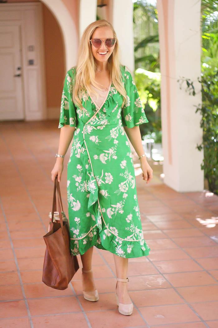 Choisir son tenue pour mariage champetre informelle robe pour mariage champetre printemps style casuel robe verte fleurie