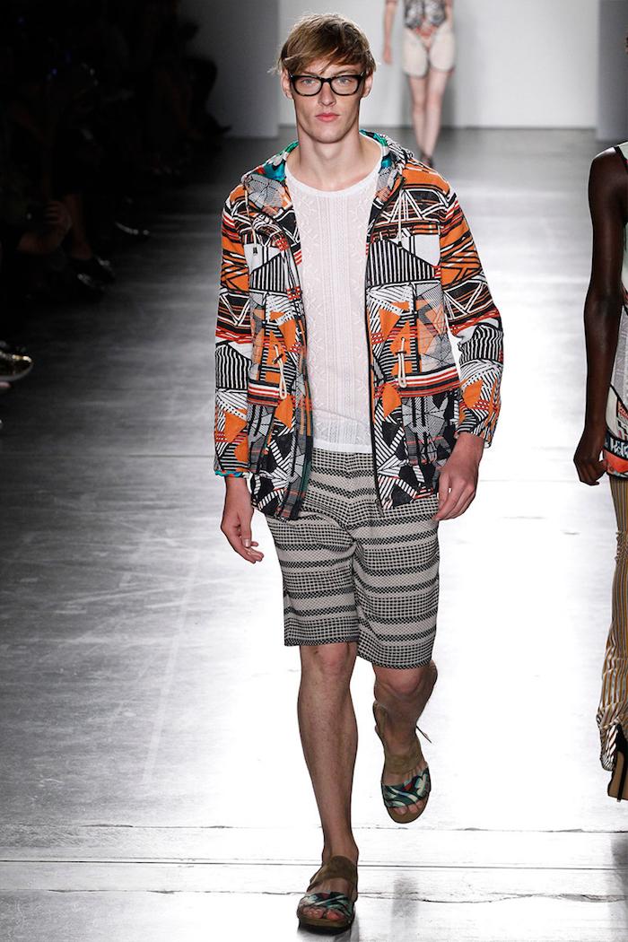 look été pour homme style boheme avec veste orange et short en coton pour plage chic