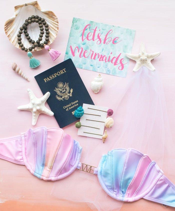 Evjf original idée enterrement de vie de jeune fille activite evjf à choisir sirène maillot de bain passport idée week end evjf au bord de la mer vacances exotiques