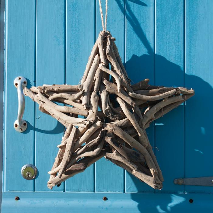 étoile, décorative à suspendre à la porte ou au mur, pendentif et diy bois flotté