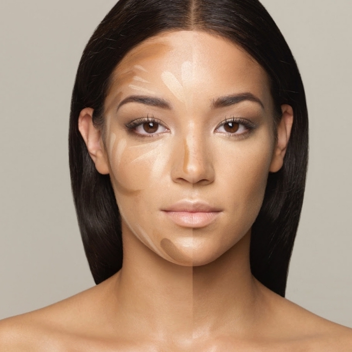 technique de contouring comment faire sur visage de teint bronzé, exemple maquillage naturel pour yeux marron