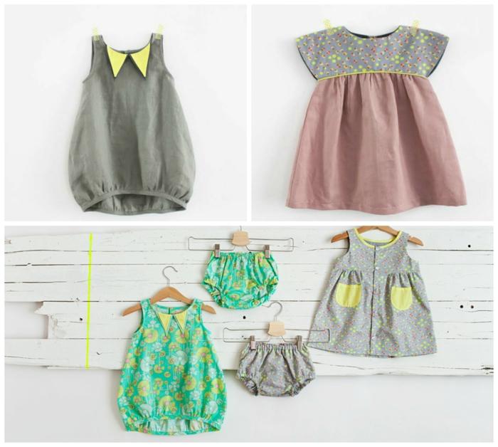 deco baby shower fille, cadeau future maman, box femme enceinte, vêtements pour les petits, robes et culottes en tissu coton, faciles a enfiler