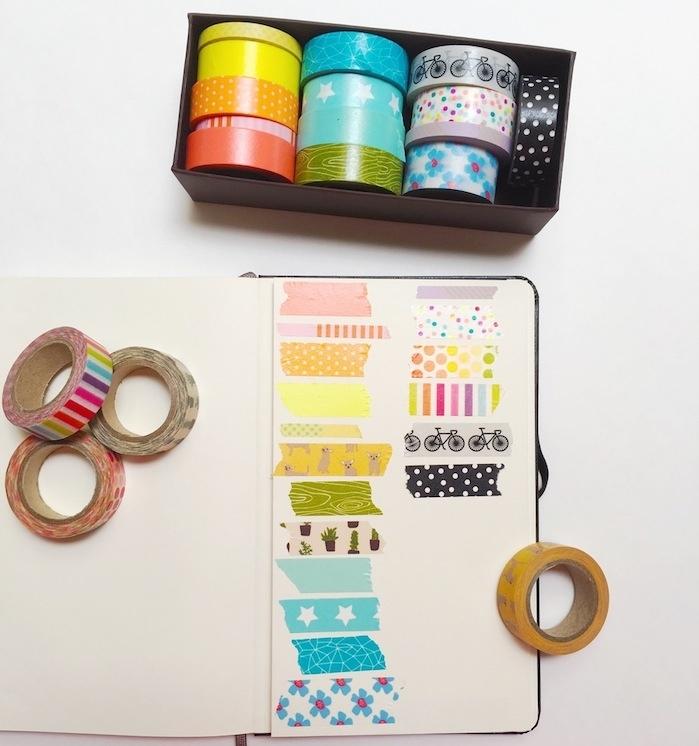 bandes de washi tape colorées pour customiser son agenda de bandes décoratives originales