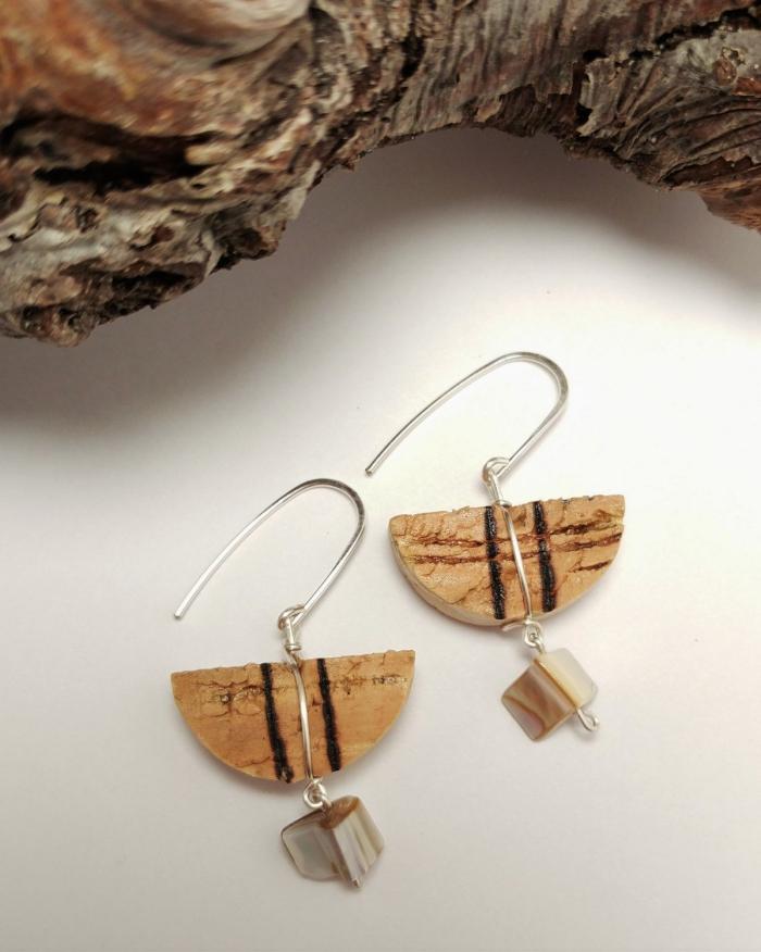 des bijoux diy en bouchons de liège, bricolage récupération créatif avec des bouchons de liège