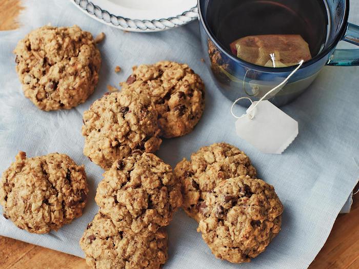 biscuits aux flacons d avoine, banane et pépites de chocolat pour votre pause thé, repas sain matin ou après midi