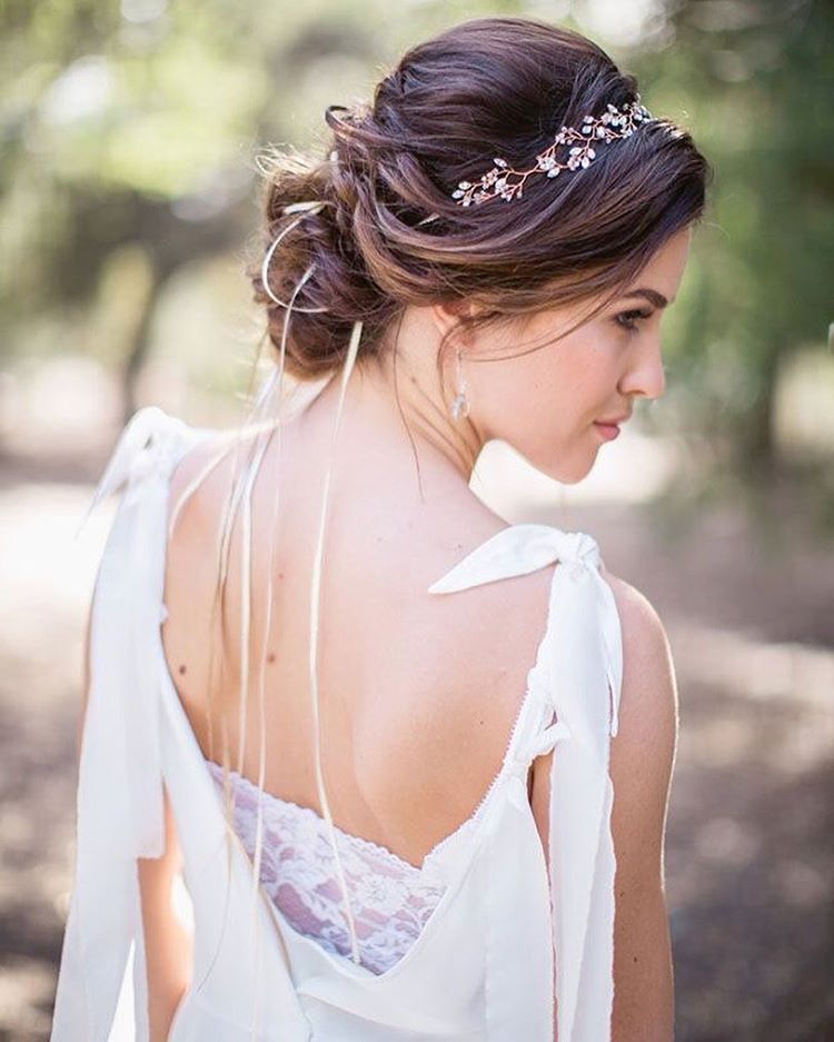La coiffure champetre mariage, belle coiffure mariage boheme, trouver son style cheveux, quel accessoire choisir