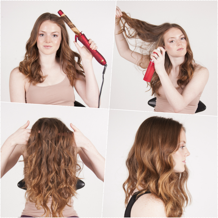 Comment faire des ondes bohèmes sur ses cheveux, se coiffer soi-meme pour l'été, idée coiffure mariage invitée