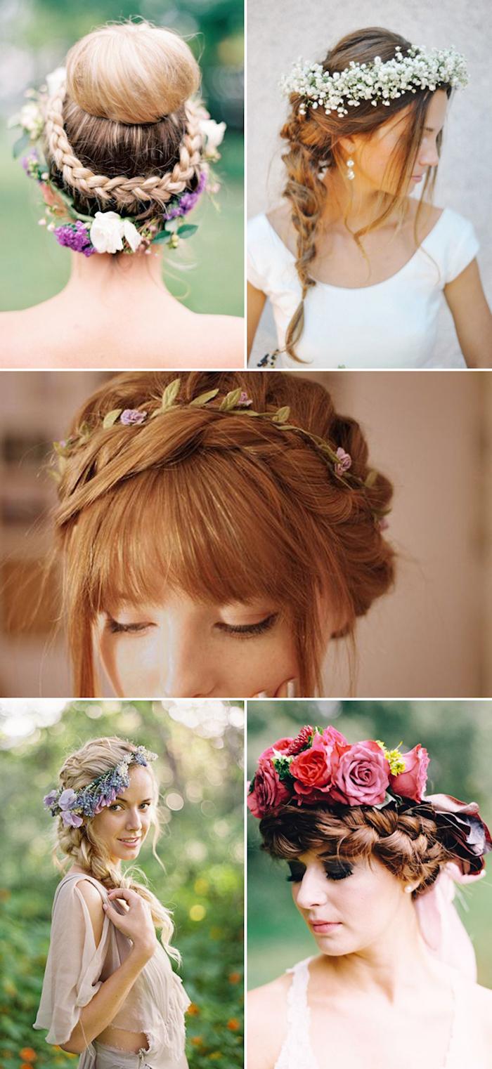 Fleurs pour accessoire de coiffure mariage invitée ou la mariee, coiffure simple mariage accessoires bohème