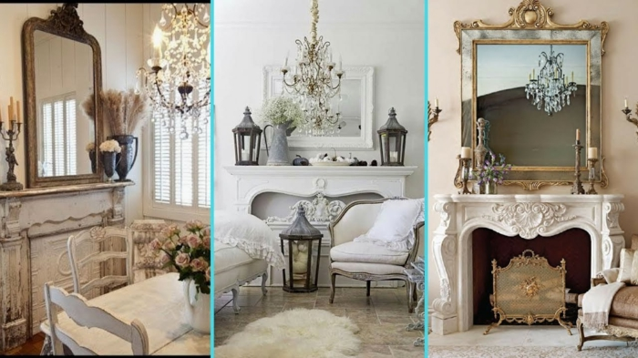 créer une atmosphère souce et apaisante, miroirs déco, cheminées murales, meubles aux courbes victoriens