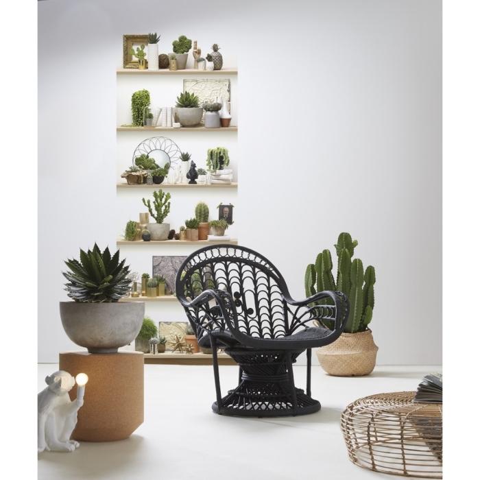papier peint deco original imitation étagère à cactus idéal posé en lé unique pour insuffler une ambiance bohème dans l'intérieur