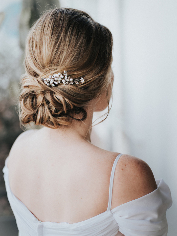 Accessoire cheveux mariage, coiffure mariage champetre chic, coiffure mariage boheme thème mariage
