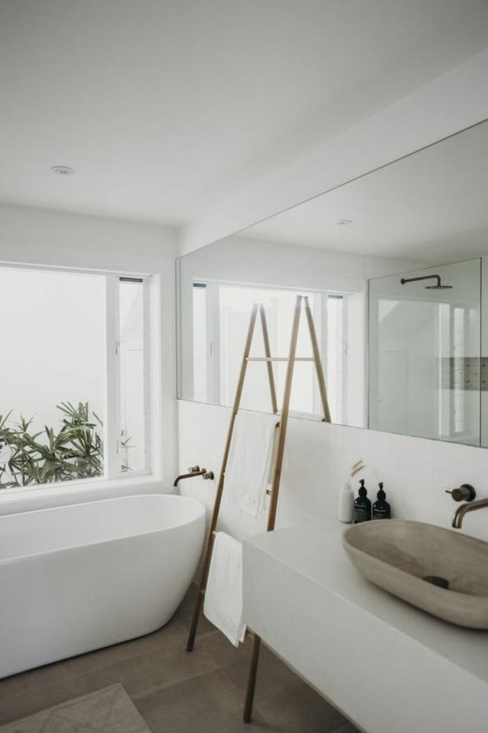 petite salle de bain moderne, salle de bain 5m2, modele carrelage salle de bain, salle de bain blanche, salle de bain nature