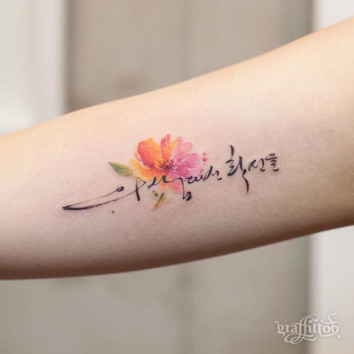 Tatouage Aquarelle Fleur De Cerisier 3dliveproject