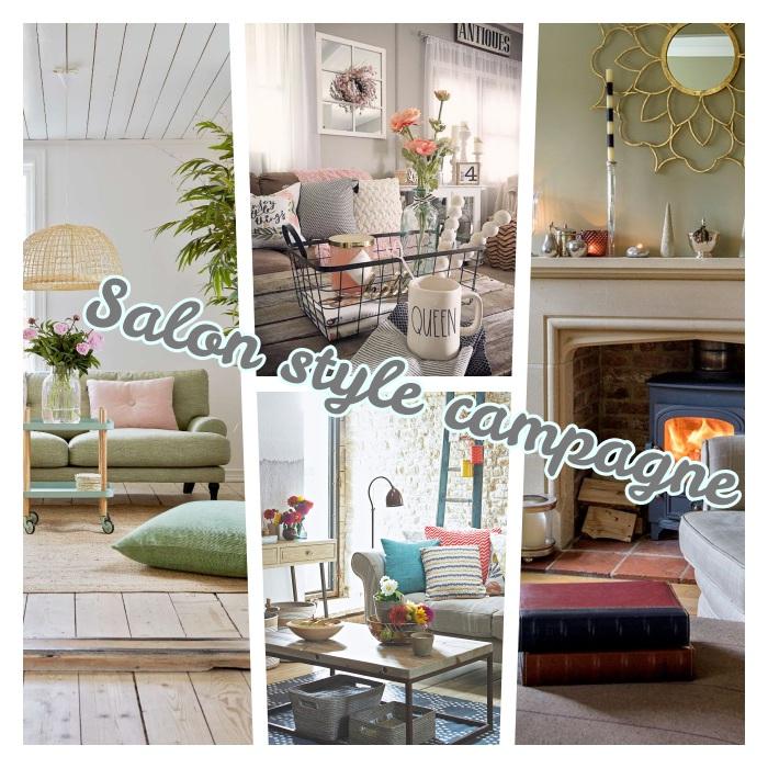 salon chaleureux style campagne chic, aménagement cheminée rustique, table basse bois brut, deco shabby florale, couleurs pastel