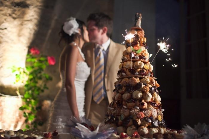 Pièce montée mariage choux, pièce montée mariage croquemonsieur, gateau de mariage de luxe idée simple et tres cool