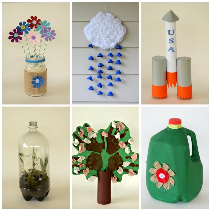 idées de bricolage avec récupération pour petits et grands, que faire avec des bouteilles en plastique et des rouleaux de papier toilette