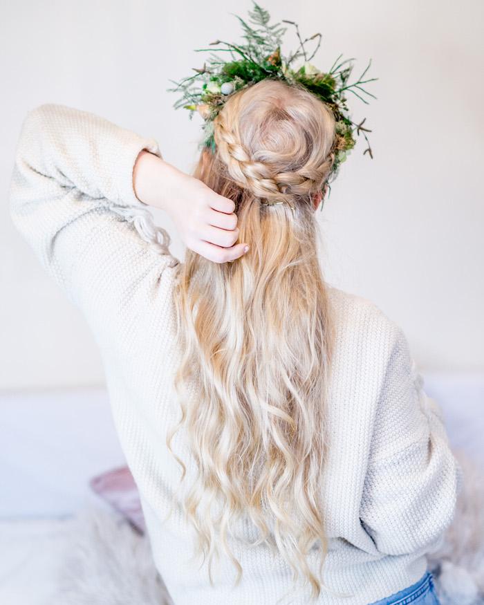 Idée coiffure mariage tendance 2018, la coiffure pour mariage tresse boho stylée